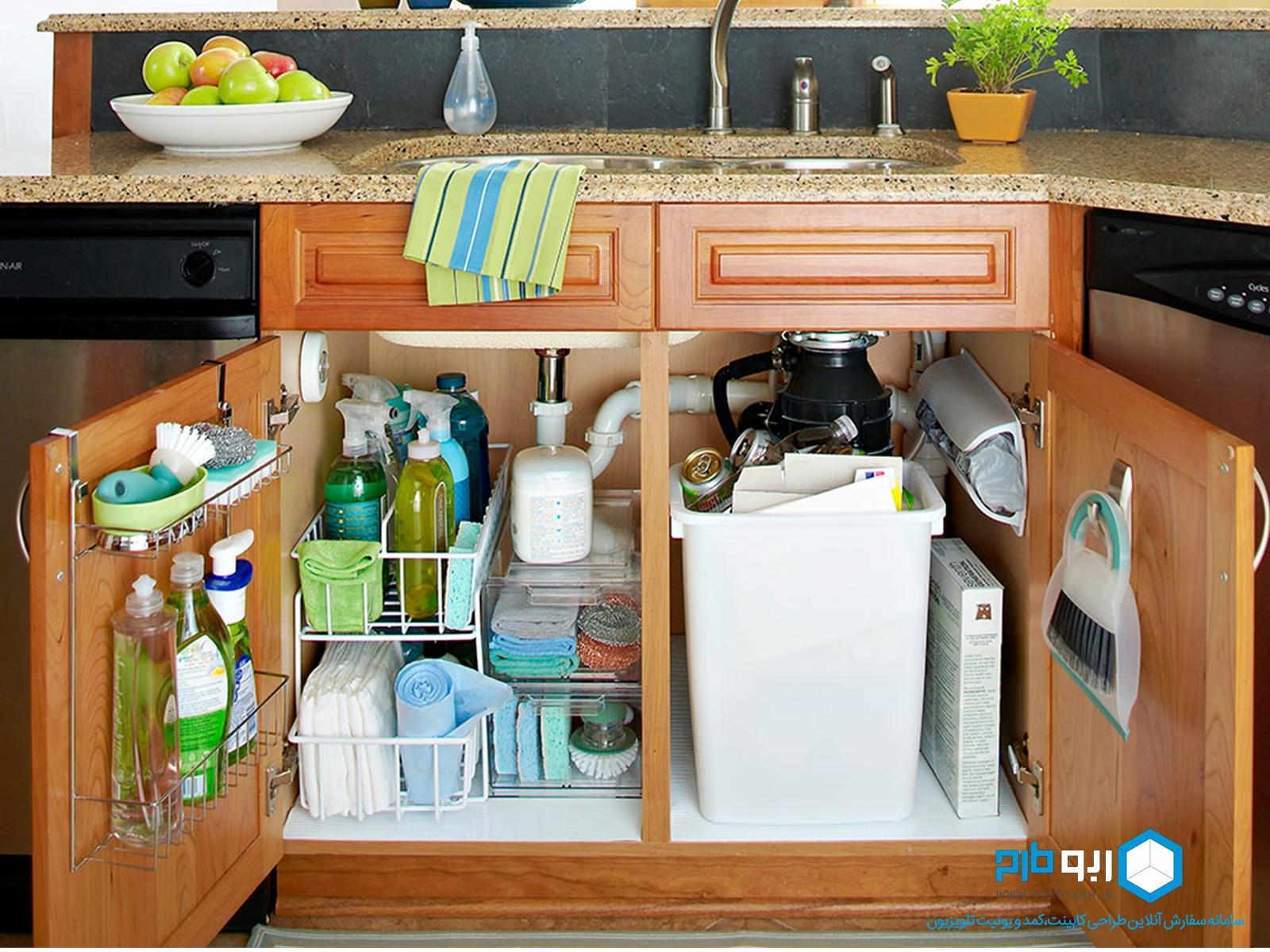 کابینت زیر سینک ظرفشویی