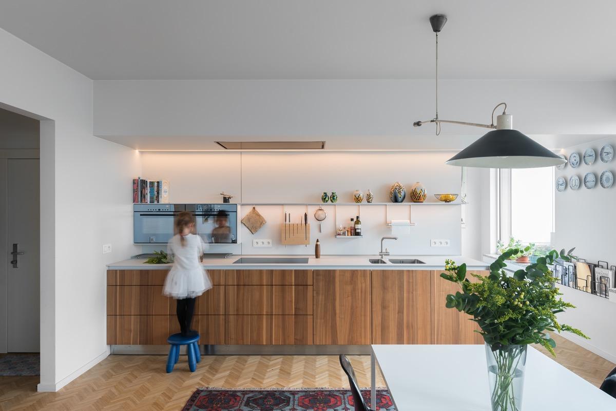 آشپزخانه دیواری یا یکطرفه
