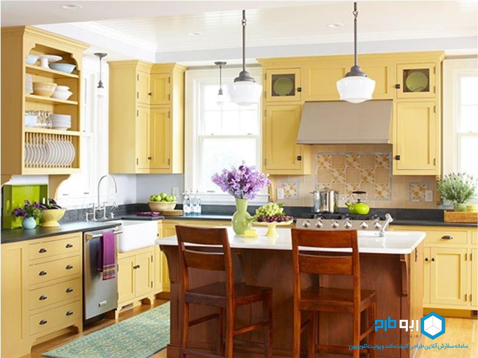 استفاده از رنگهای گرم در طراحی آشپزخانه