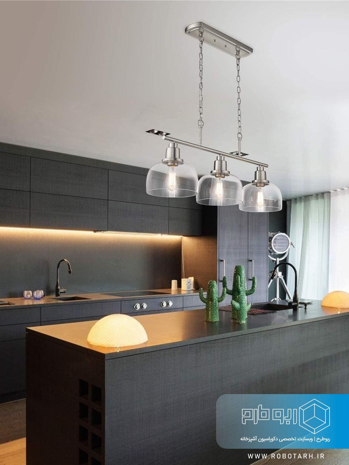 استفاده از لوستر در آشپزخانه