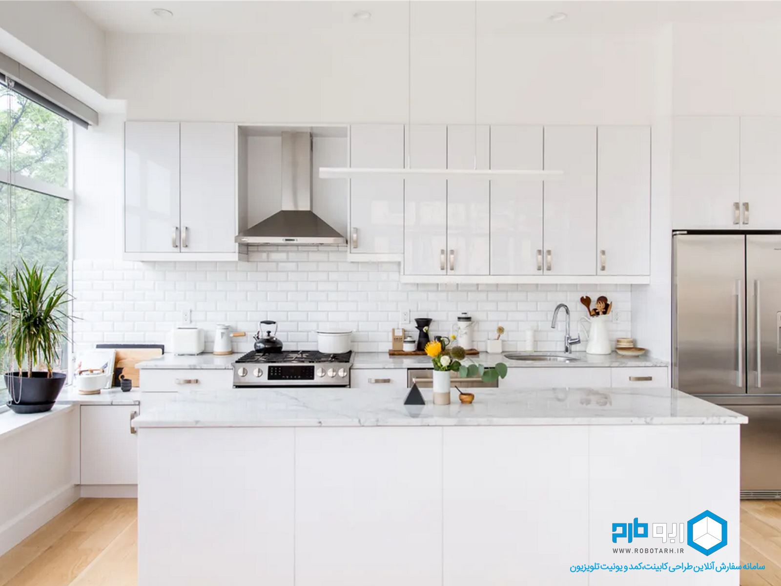 آشپزخانه خطی یا تک دیواری