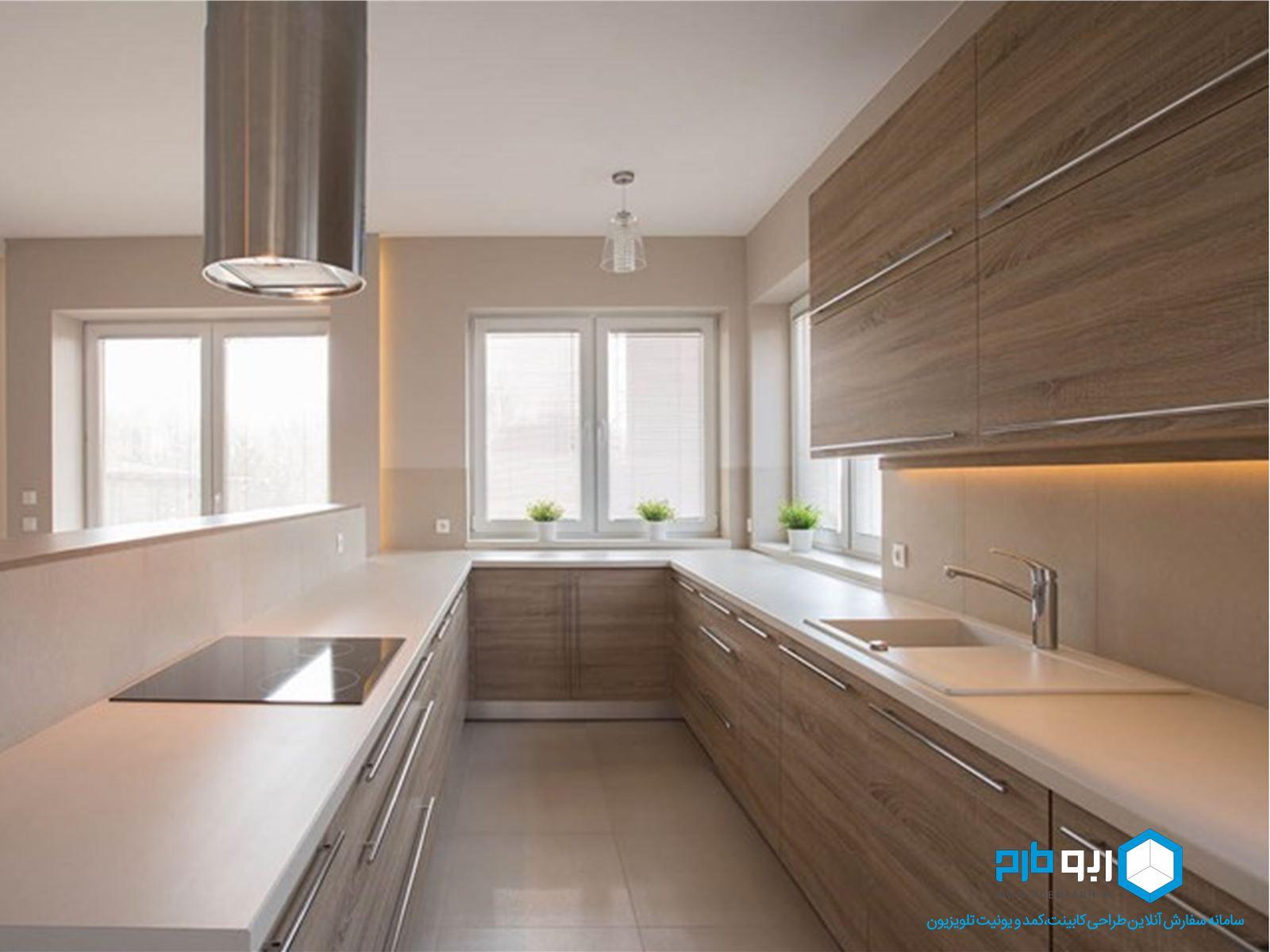 آشپزخانه به سبک  گالی یا راهرویی