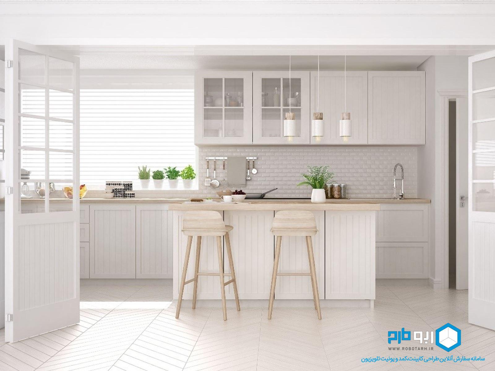 آشپزخانه سفید رنگ