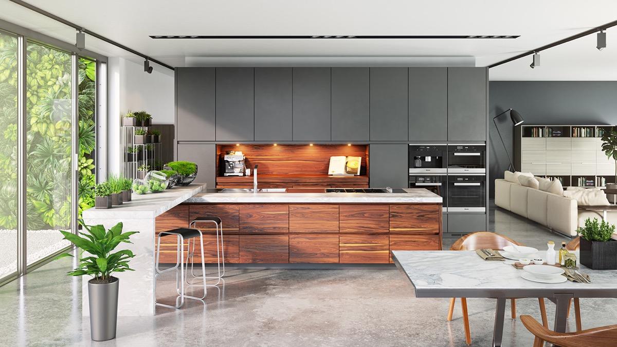 ترکیب زیبای چوب و رنگ خاکستری - ربوطرح